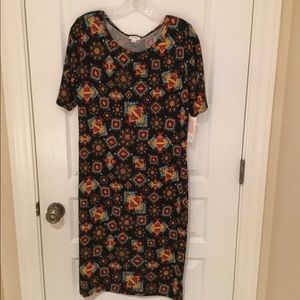 LULAROE Julia Dress Southwestern Design XL NEW